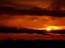 sunset2 урбанское Стоковые Фотографии RF