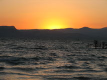 Sunset2. Sunset on the sea of galilee royalty free stock photos
