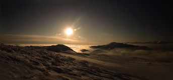 Sunset2. Sunset in Valcan Mountains, romania Royalty Free Stock Photography