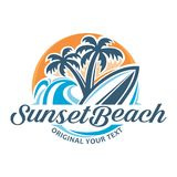 SunsetBeach Lizenzfreie Stockbilder