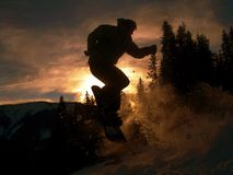 Sunsetboarding Stockbild