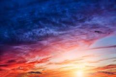Sunsetclouds Royalty-vrije Stock Foto
