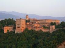 Sunsetdetail de Alhambra Imagenes de archivo