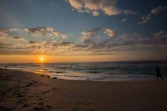 Sunseti impressionante em Havaí Foto de Stock Royalty Free