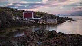 Sunseting nad połów scenami Zdjęcie Stock