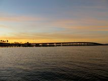 Sunseting over the Manatee River Royalty Free Stock Images