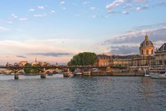 Sunseting over the Seine Stock Photos