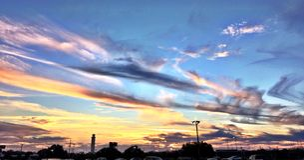 Sunsets στην Τάμπα, Φλώριδα Στοκ εικόνα με δικαίωμα ελεύθερης χρήσης