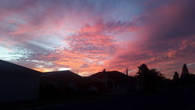 sunsets στον ουρανό Στοκ Φωτογραφίες