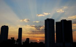 sunsets Stock Foto