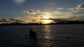 Sunsets in banda aceh. View a sunsets in holiday Royalty Free Stock Photography