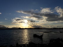 Sunsets in banda aceh. View a sunsets in holiday Stock Photos