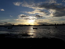 Sunsets in banda aceh. View a sunsets in holiday Stock Image