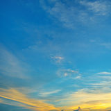 Sunsets in the clouds Royalty Free Stock Photo