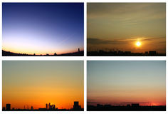 Sunsets collage Royalty Free Stock Images
