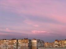 Sunsets in de Oekraïne stock afbeeldingen