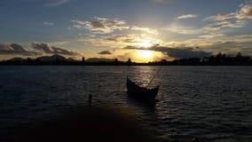 Sunsets. Foto pemandanga aluenaga di banda aceh royalty free stock photography