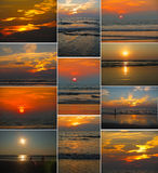 Sunsets in Goa Stock Photos