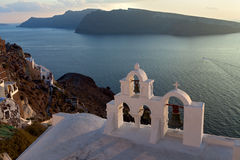 Sunsets island of Santorini Stock Images