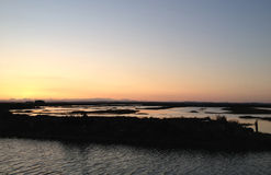 Sunsets in the marsh Stock Image