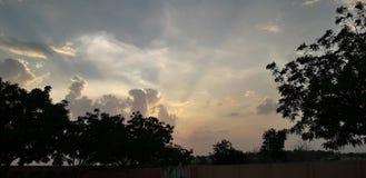 Sunsets is mooi stock afbeeldingen