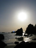 Sunsets over El Matador Beach in Malibu, California Stock Photography