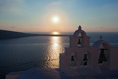 Sunsets Of Santorini Stock Image