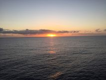 Sunsets at sea Stock Image