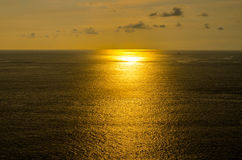 Sunsets at the sea in thailand. Horizontal photo with natural li Royalty Free Stock Photos