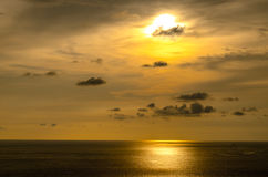 Sunsets at the sea in thailand. Royalty Free Stock Photos