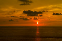 Sunsets at the sea in thailand. Stock Photography