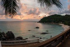 Sunsets and sunrises at Cristal Bay, Samui, Thailand Royalty Free Stock Image
