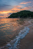 Sunsets and sunrises at Cristal Bay, Samui, Thailand Stock Images