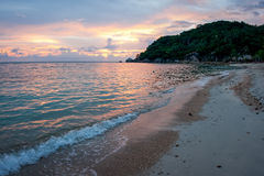 Sunsets and sunrises at Cristal Bay, Samui, Thailand Royalty Free Stock Photos