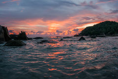 Sunsets and sunrises at Cristal Bay, Samui, Thailand Royalty Free Stock Photo