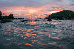 Sunsets and sunrises at Cristal Bay, Samui, Thailand Royalty Free Stock Photography