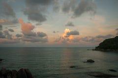 Sunsets and sunrises at Cristal Bay, Samui, Thailand Stock Photo