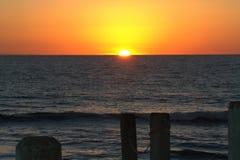 Sunsetting在加利福尼亚 库存照片