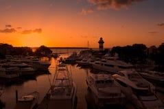 Sunsetting in Hilton Head, Carolina del Sud Immagini Stock Libere da Diritti