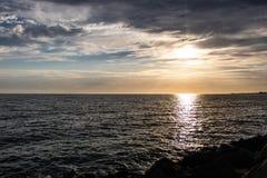 Sunsetting i St Kilda, Melbourne, Australien arkivbild