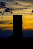 Sunsetting. This image shows a silo with sunset coming and near Conrad, MT.  I softened this image by greatly reducing the noise Stock Images