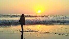 Sunsetting nad Pacyfik zdjęcie stock