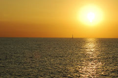 Sunsetting on the Pacific. Beautiful sunsetting on the Pacific Ocean Royalty Free Stock Images