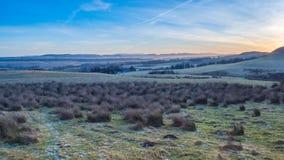 Sunsetting sulle colline di Pentland Immagine Stock Libera da Diritti