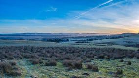 Sunsetting sulle colline di Pentland Fotografia Stock Libera da Diritti
