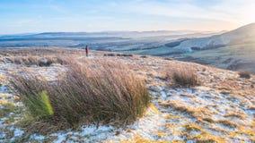 Sunsetting sur les collines de Pentland Photo libre de droits