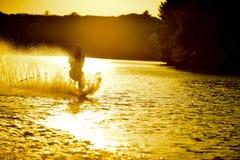 Sunsetwaterski Immagini Stock