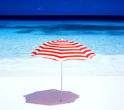 Sunshade. At Petite Anse, Mahe, Seychelles Royalty Free Stock Photography