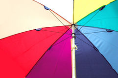 Sunshade. Umbrella beach blue bright color Stock Photo