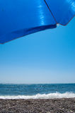 Sunshade on the beach Royalty Free Stock Photos
